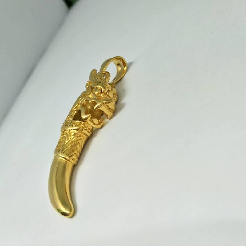 Mặt dây chuyền nam mạ vàng đầu rồng BNN