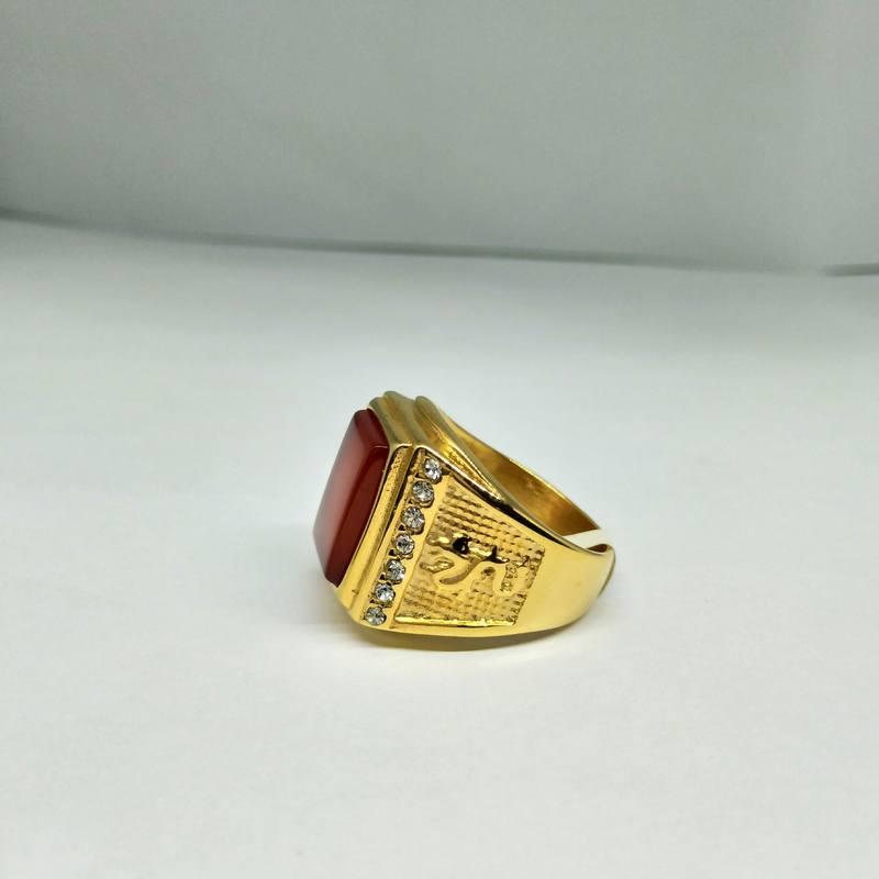 Nhẫn nam bản to mạ vàng rồng xanh dương