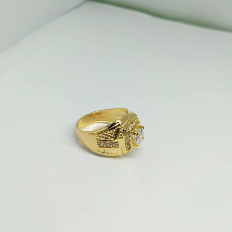 Lắc nam mạ vàng chéo bản to chạm khắc giá rẻ HCM