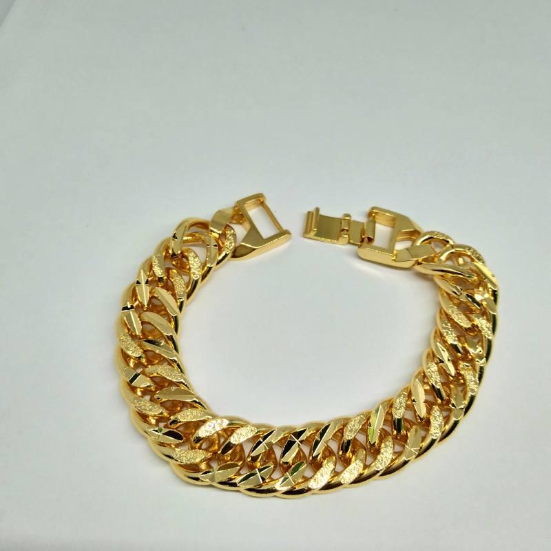 Lắc nam mạ vàng chạm khắc mẫu 2 giá rẻ HCM