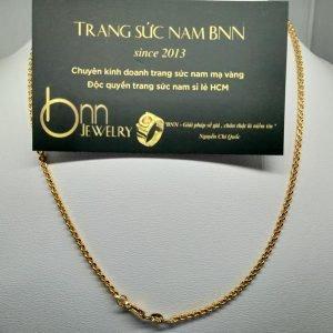 Dây chuyền khoen lật mạ vàng loại nhỏ BNN
