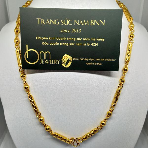 Dây chuyền mạ vàng nam loại 2 thanh vuông BNN HCM
