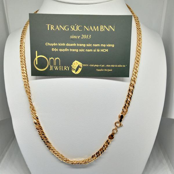 Dây chuyền nam xi vàng rẻ 18k trang sức nam BNN