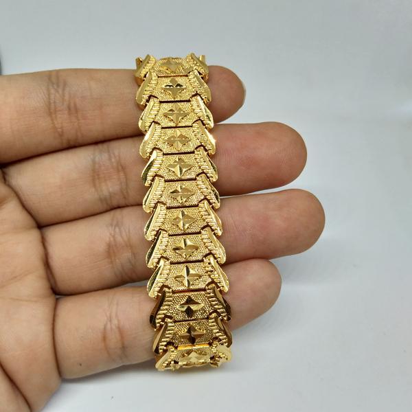 Lắc nam bản to mạ vàng chạm khắc bán chạy vàng 24k