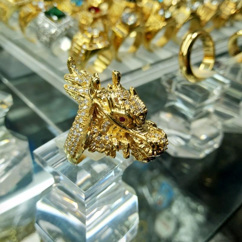 Nhẫn nam đầu rồng mạ vàng 18k bền màu – Trang sức BNN