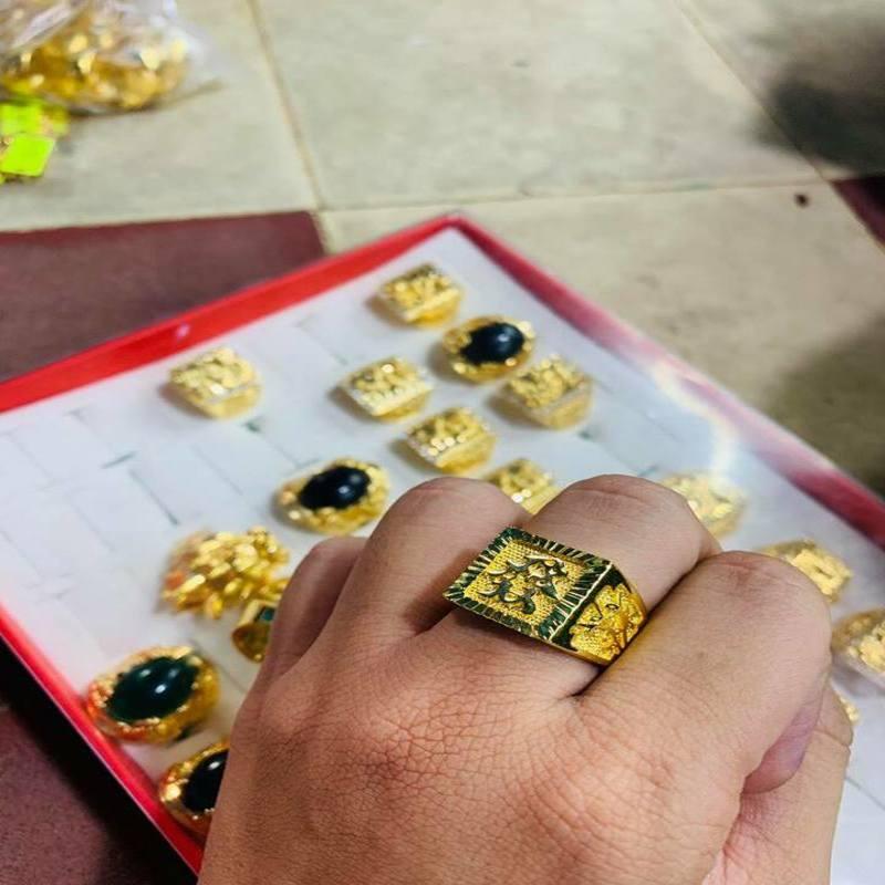 Nhẫn nam chữ Tài xi vàng 24k NHAN01 TPHCM