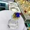 Nhẫn nam xanh dương đá tròn mạ vàng 18k – Trang sức BNN