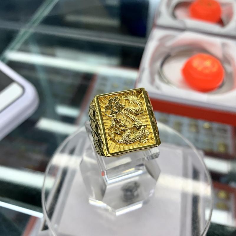 Nhẫn rồng bản vuông mạ vàng lớn to của NAM – Trang sức BNN