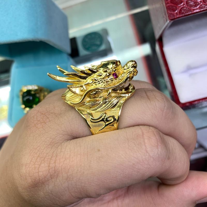 Nhẫn đầu rồng mạ vàng xi mạ trang sức nam BNN TPHCM