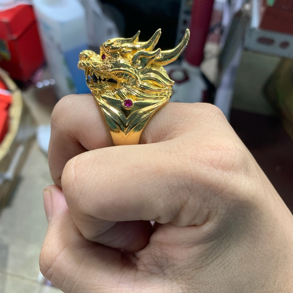 Nhẫn rồng mạ vàng phú lê loại to 18k Trang sức BNN