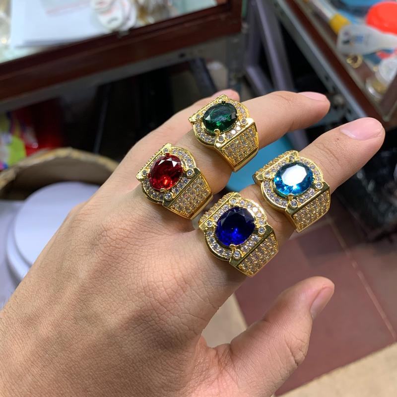 Nhẫn xoàn mạ vàng nam nhiều hột , trang sức bnn xi mạ vàng