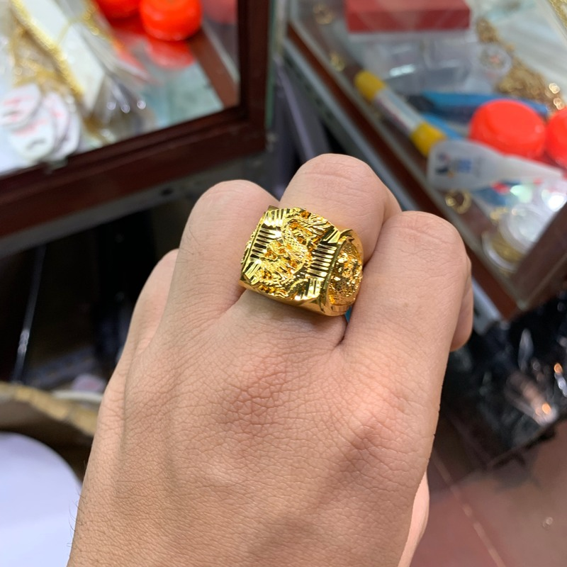 Nhẫn rồng nam mạ vàng xi vàng đẳng cấp – Trang sức BNN
