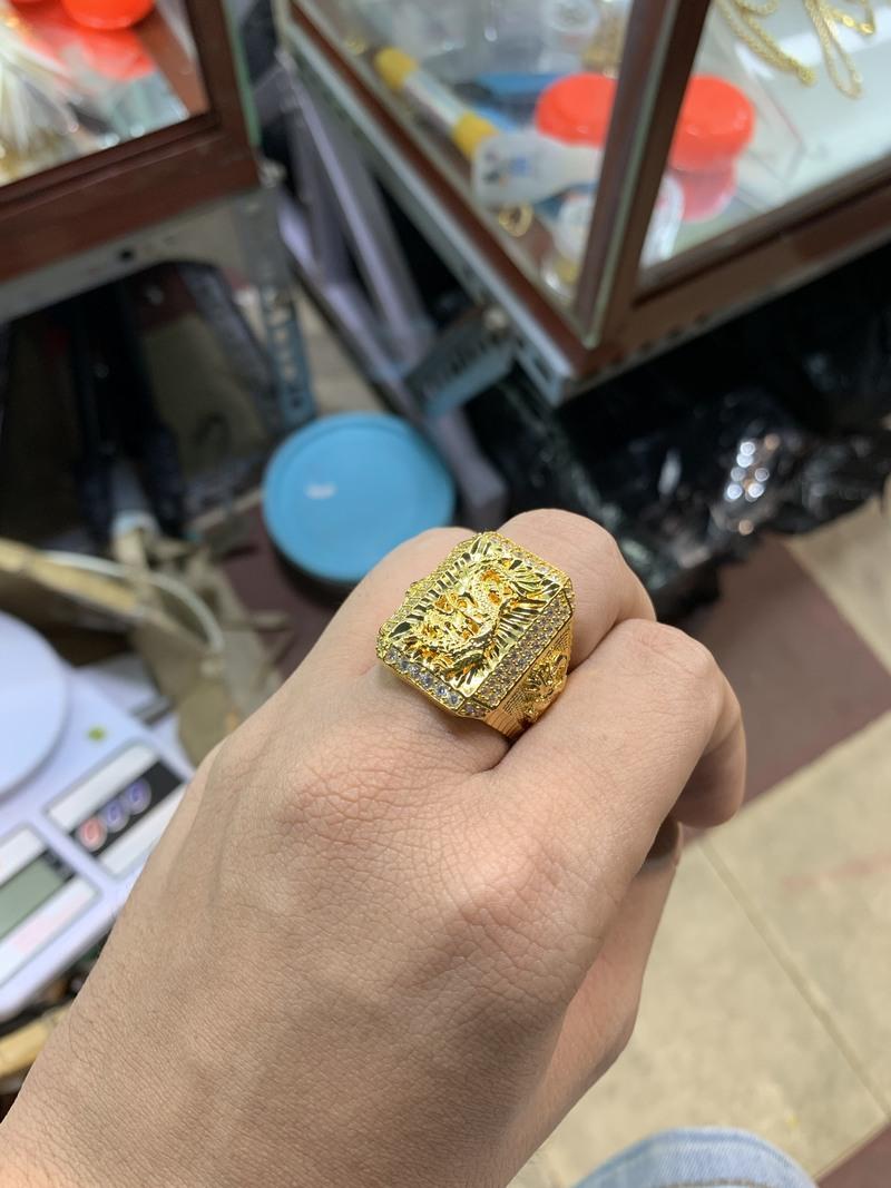nhẫn rồng nam mạ vàng