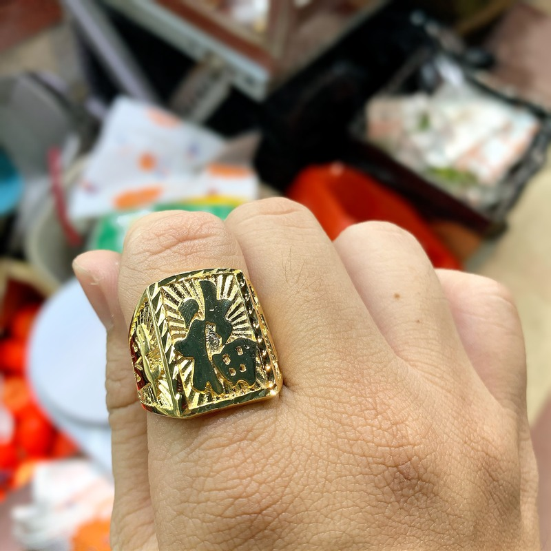 Nhẫn nam chữ Phúc mạ vàng 18k chất lượng HCM