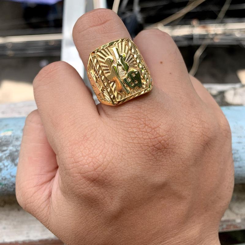 nhẫn nam chữ phúc mạ vàng (2)