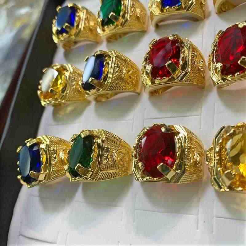 Nhẫn Phong Thủy may mắn mạ vàng nam ngũ hành TPHCM – Giá rẻ