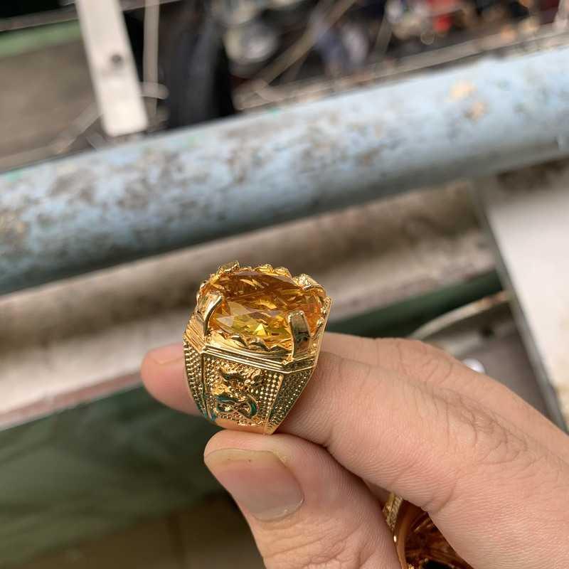 nhẫn phong thủy may mắn mạ vàng 18k