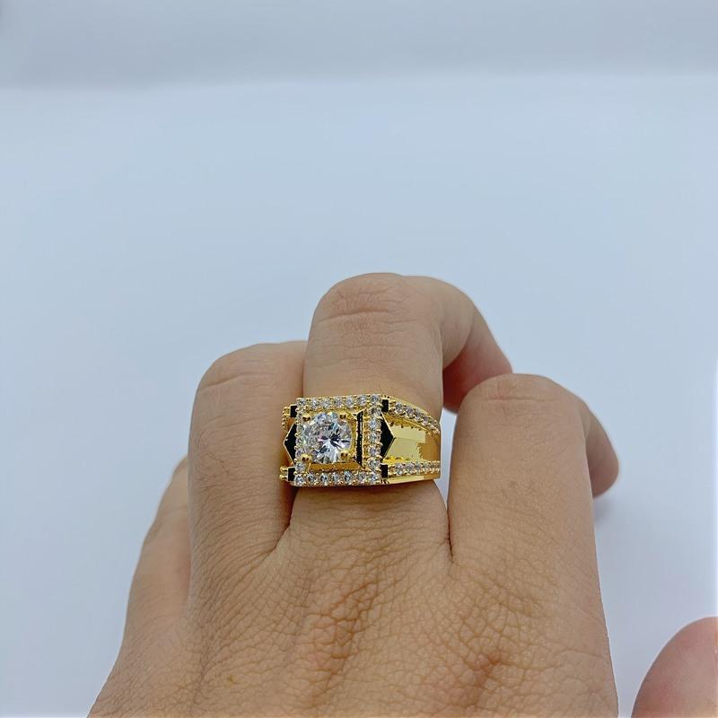Nhẫn mạ vàng đính xoàn cho nam mua ở đâu? Sỉ trang sức nam mạ vàng