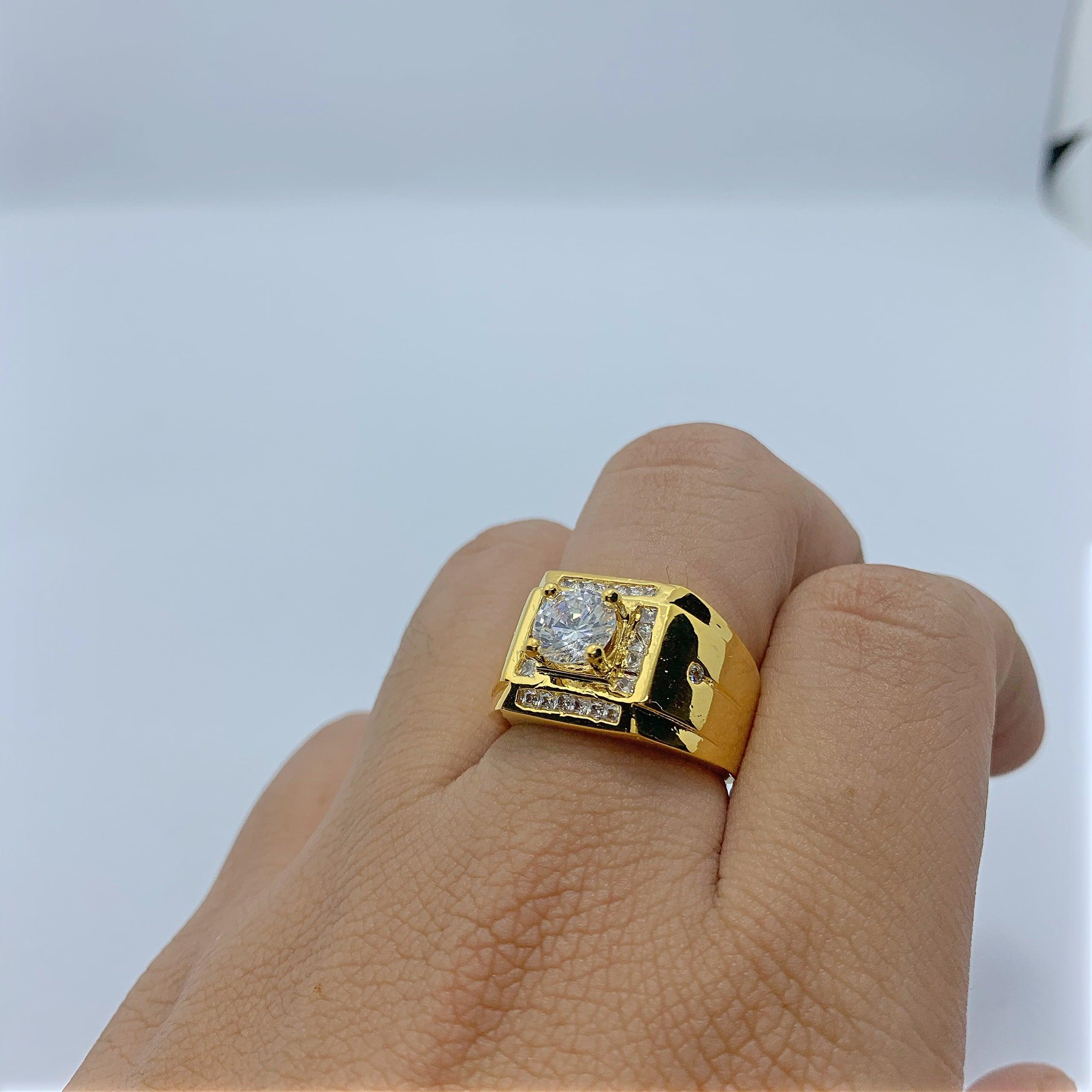 Nhẫn nam đính xoàn mạ vàng cao cấp – Giá rẻ , buôn sỉ tại HCM