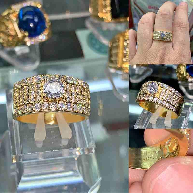 Có nên mua nhẫn nam xoàn mạ vàng hay không? Mua ở đâu uy tín nhất?