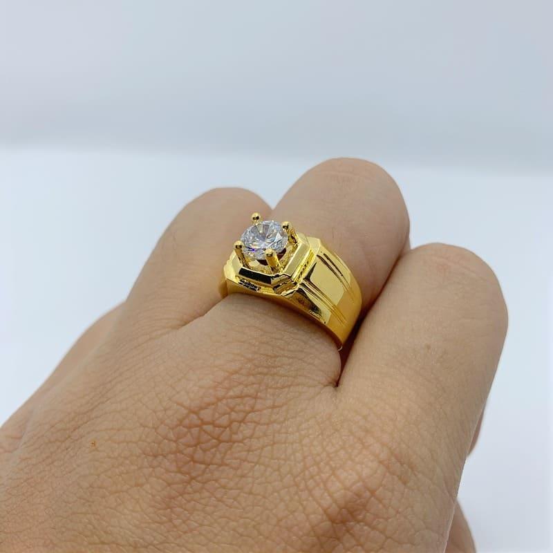 Nhẫn mạ vàng đơn giản nam– Sang trọng, lịch lãm và thành công